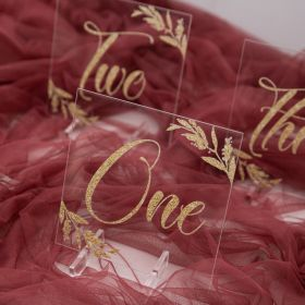 Acrylic Wedding Table Numbers Gold Cards Design Decorations CT007
