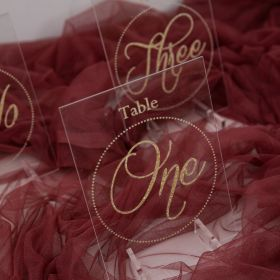 Acrylic Wedding Table Numbers Gold Cards Design Decorations CT008