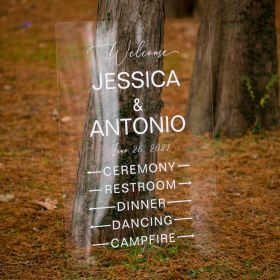 Acrylic Wedding Directional Signs guide to ceremony or reception CSD001