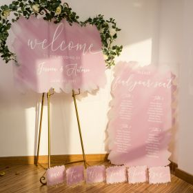 Water color Acrylic Wedding Sign Set - welcome & seating chart signs CSP004