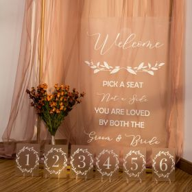 Frosted Acrylic Wedding Signs Package - welcome table signs CSP005