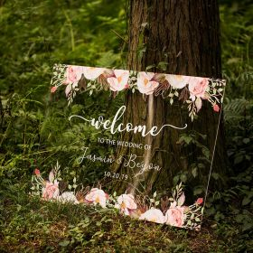 Custom Wedding Sign- Colorful and Chic Floral Acrylic Welcome Sign CS004