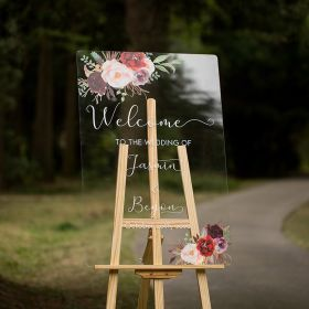 Custom-Wedding-Signs-Burgundy-and-Blush-Pink-Floral-Acrylic-Welcome-Sign-CS016