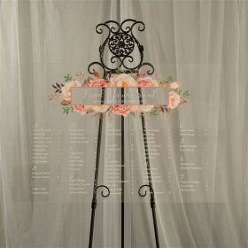 Custom Wedding Signs-Pink and Blush  Floral Acrylic Seating chart CS021