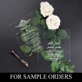 Acrylic Wedding Invitations Sample Orders