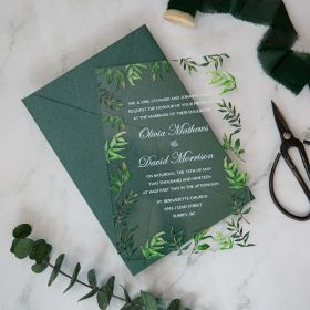 Greenery Forest Acrylic Wedding Invitations CA046