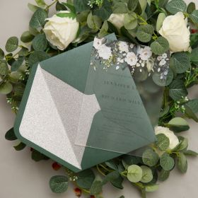 Greenery Frosted Acrylic Wedding Invitations CAM058