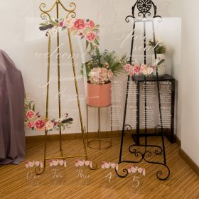 Pink Floral Acrylic Wedding Sign Package - welcome sign & seating chart CSP006