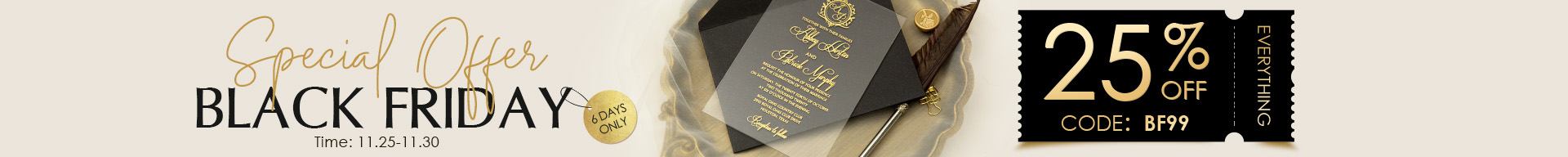 25% OFF for all invitations