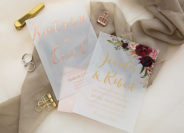 Flat Printed Wedding Invitations